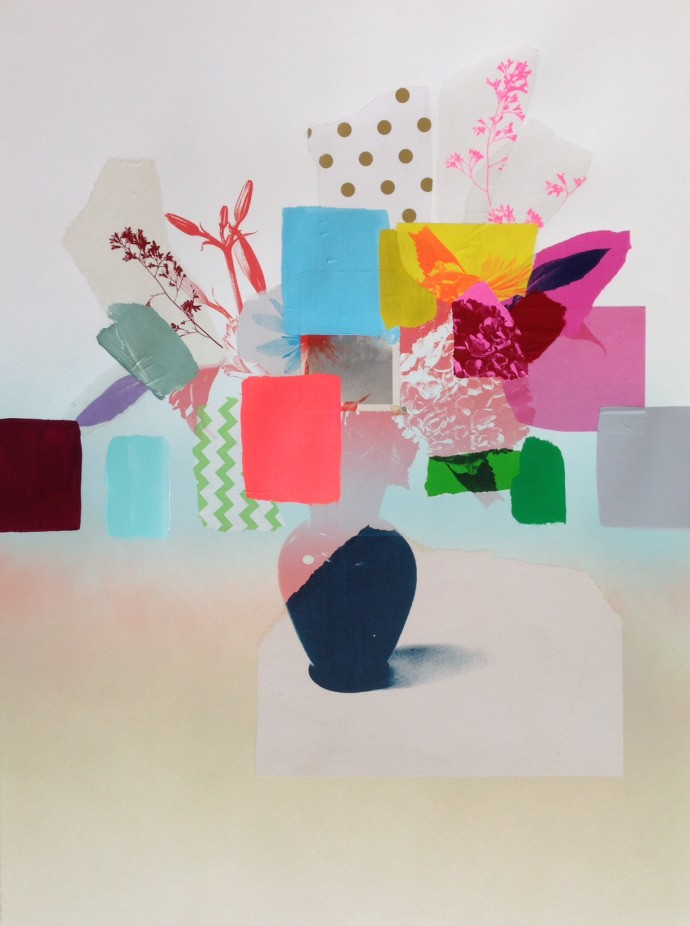 <div class=&#34;artist&#34;><strong>Emily Filler</strong></div> 2017<div class=&#34;title&#34;><em>Paper Bouquet (navy blue vase)</em>, 2017</div><div class=&#34;medium&#34;>mixed media on paper</div>