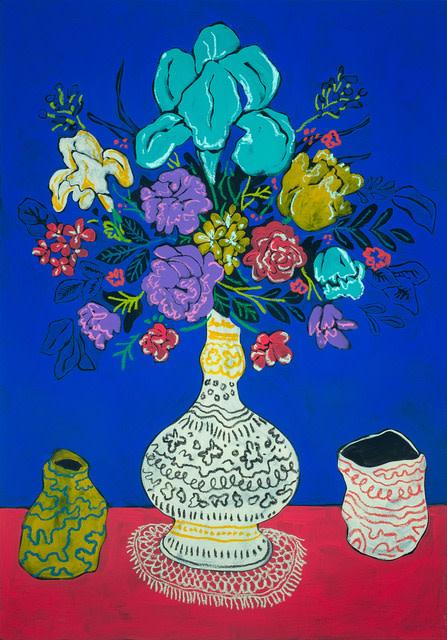 John Holcomb, Blue Floral, 2018