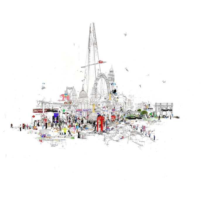 <span class=&#34;title_and_year&#34;><em>Crazy Town</em>, 2015<span class=&#34;title_and_year_comma&#34;>, </span></span><span class=&#34;medium&#34;>monoprint<span class=&#34;medium_comma&#34;>, </span></span><span class=&#34;dimensions&#34;>93 x 93 cm<span class=&#34;dimensions_comma&#34;>, </span></span><span class=&#34;edition_details&#34;>edition of 50</span>