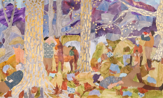 <div class=&#34;artist&#34;><strong>Dione Verulam</strong></div><div class=&#34;title&#34;><em>Siesta Sur l'Herbe, Pyrenees</em>, 2016</div><div class=&#34;medium&#34;>collage</div><div class=&#34;dimensions&#34;>102 x 170 cm<br>40 1/8 x 66 7/8 in</div>