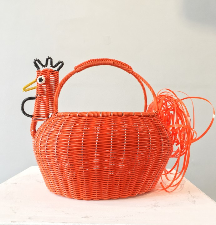 Mexican Artisan Collective, Large Chicken Orange