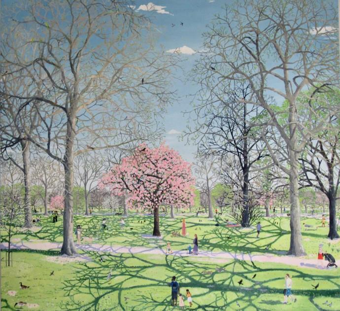 Emma Haworth, Spring Park Cherry Blossom, 2020