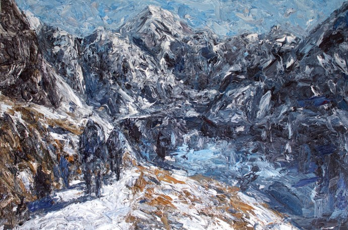 <div class=&#34;artist&#34;><strong>Holly Zandbergen</strong></div><div class=&#34;title&#34;><em>The Routeburn Track</em>, 2015</div><div class=&#34;medium&#34;>oil on canvas</div><div class=&#34;dimensions&#34;>100 x 150 cm<br>39 3/8 x 59 1/8 in</div>