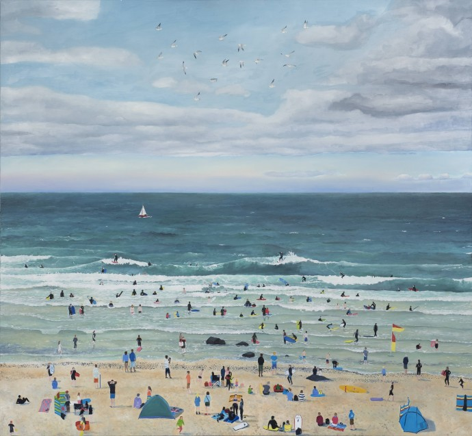 Emma Haworth, Surfers Cloudy Sky, 2014