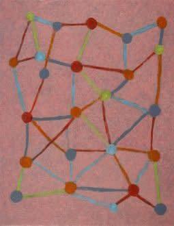 Abigail McLellan, Molecules on Pink, 2009