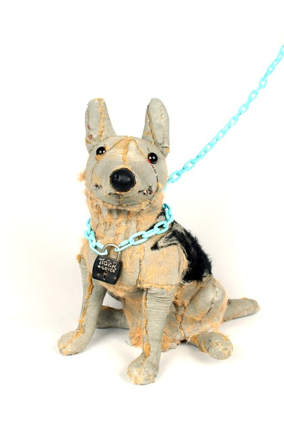 <div class=&#34;artist&#34;><strong>Ross Bonfanti</strong></div><div class=&#34;title&#34;><em>German Shepherd</em>, 2015</div><div class=&#34;medium&#34;>concrete, toy parts, enamel, steel</div><div class=&#34;dimensions&#34;>46 x 51 x 35.5 cm<br>18 x 20 x 14 in</div>