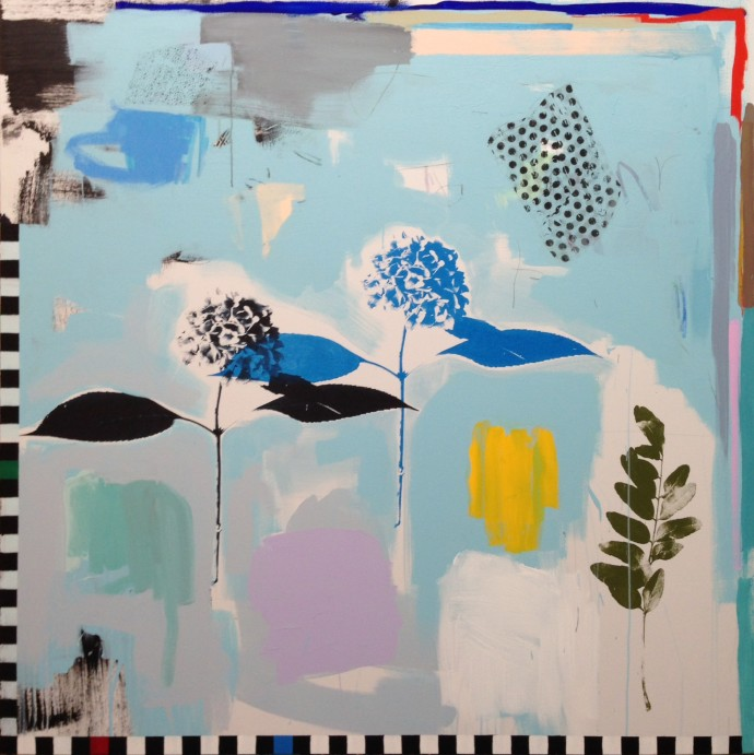 <div class=&#34;artist&#34;><strong>Emily Filler</strong></div> 2017<div class=&#34;title&#34;><em>Blue Hydrangeas</em>, 2017</div><div class=&#34;medium&#34;>mixed media on canvas</div><div class=&#34;dimensions&#34;>152.4 x 152.4 cm<br>60 x 60 in</div>