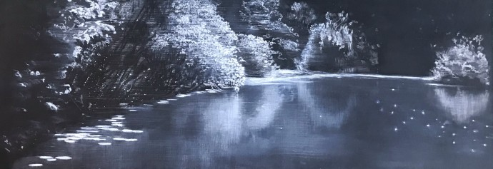Sheila Clarkson, Reflections at Abbots Pool, 2018