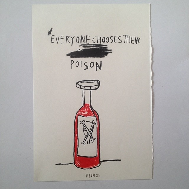 Stephen Anthony Davids, Everyman choses his poison, 2014