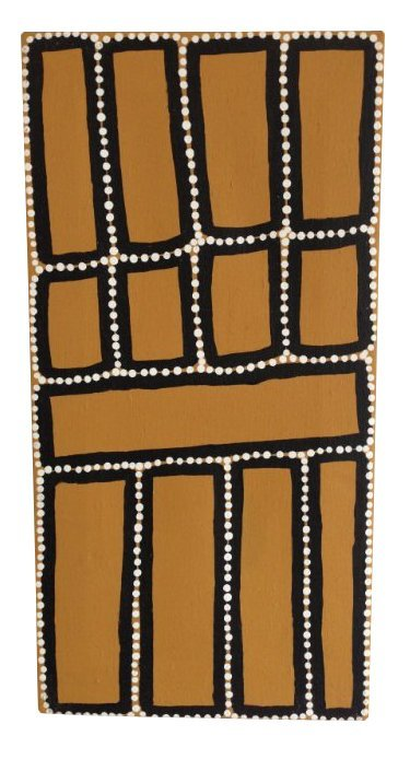 <div class=&#34;artist&#34;><strong>Walala Tjapaltjarri</strong></div><div class=&#34;title&#34;><em>Tingari Cycle</em>, 2000,&#160;<span style=&#34;line-height: 1.5em;&#34;>Acrylic on Canvas,&#160;</span><span style=&#34;line-height: 1.5em;&#34;>30 x 60cm</span></div>