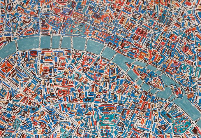 Barbara Macfarlane, Paris Teal, Cobalt, Orange, 2019