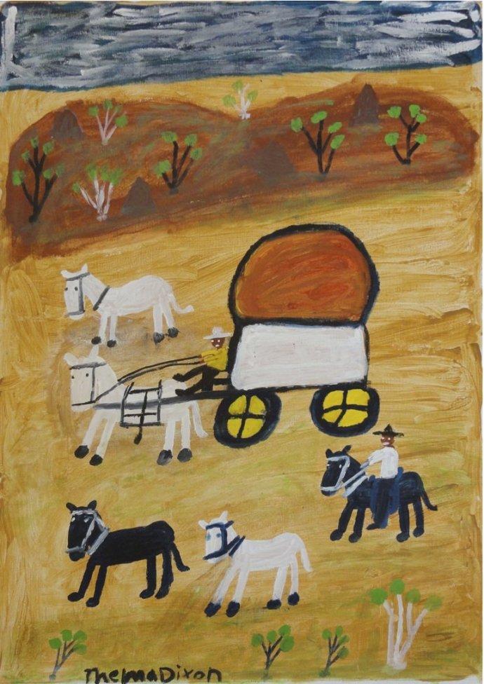 Thelma Dixon, Wagon and Rider, 2011