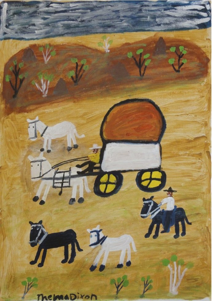 Thelma Dixon, Wagon and Rider, 2011
