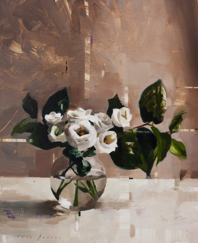 Jon Doran, Lisianthus And Shade, 2018