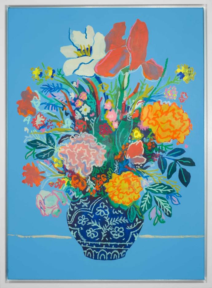 John Holcomb, Floral True Blue, 2017