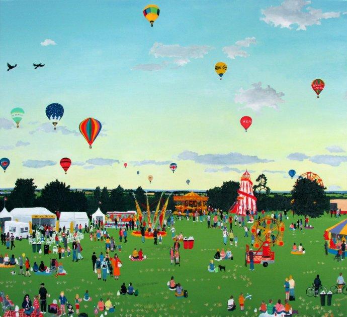 Emma Haworth, Balloons and Fairground, 2014