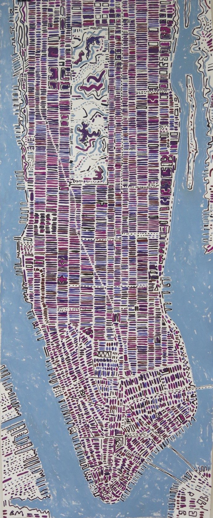 Barbara Macfarlane, Long Dark Purple Manhattan, 2017