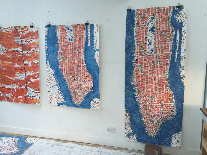 Barbara Macfarlane, Manhattans drying in the studio