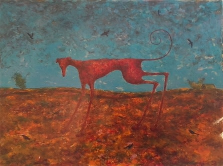 Alasdair Wallace, Red Dog (framed), 1999