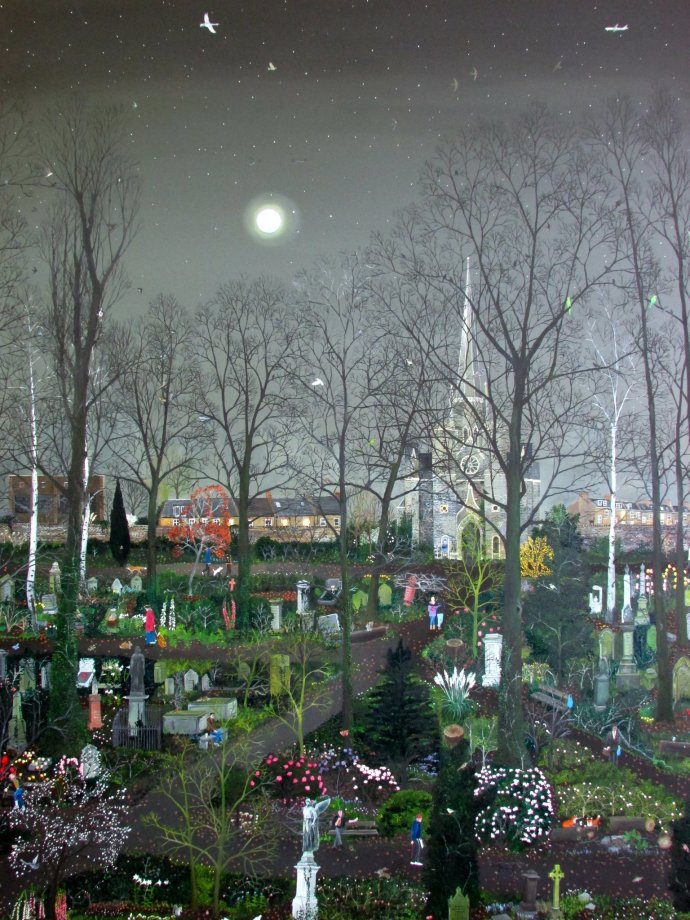 <span class=&#34;title_and_year&#34;><em>Abney Park by Moonlight</em>, 2014<span class=&#34;title_and_year_comma&#34;>, </span></span><span class=&#34;medium&#34;>oil on canvas</span>