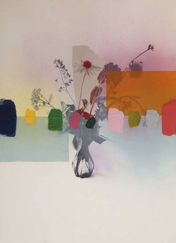 Emily Filler, Paper Bouquet (In Rainbows) I, 2017