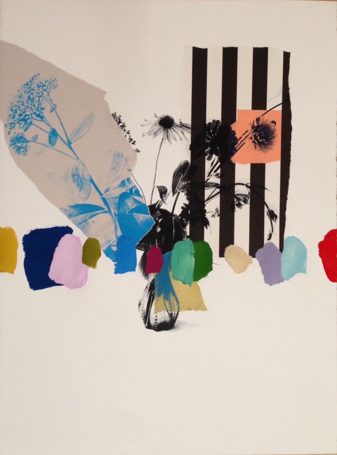 Emily Filler, Paper Bouquet (stripes), 2016