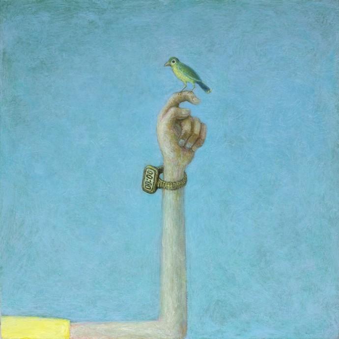 <div class=&#34;artist&#34;><strong>Alasdair Wallace</strong></div><div class=&#34;title&#34;><em>Twit</em>, 2014</div><div class=&#34;medium&#34;>acrylic on board</div><div class=&#34;dimensions&#34;>14 x 14 cm</div>