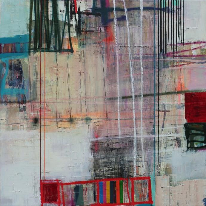 <div class=&#34;artist&#34;><strong>Morten Lassen</strong></div><div class=&#34;title&#34;><em>Interference A</em>, 2016</div><div class=&#34;medium&#34;>oil and spray on linen</div><div class=&#34;dimensions&#34;>120 x 120 cm<br>47 1/4 x 47 1/4 in</div>
