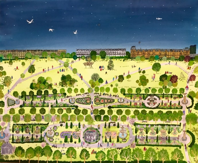 <div class=&#34;artist&#34;><strong>Emma Haworth</strong></div><div class=&#34;title&#34;><em>Flower Beds Evening</em>, 2016</div><div class=&#34;signed_and_dated&#34;>Regent's Park watercolour series</div><div class=&#34;medium&#34;>watercolour on paper</div><div class=&#34;dimensions&#34;>74 x 81 cm</div>