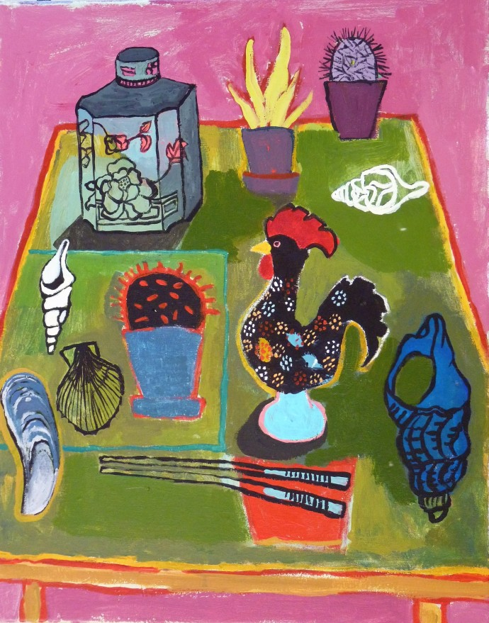 Anastasia Lennon, Rooster And Shells, 2016