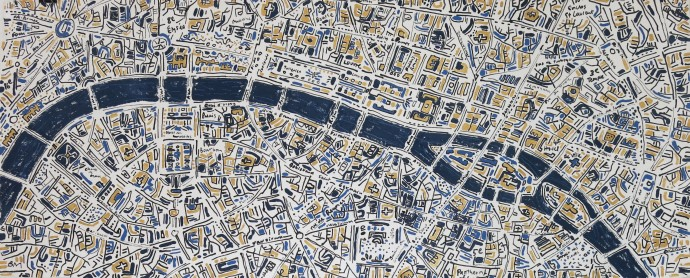 Barbara Macfarlane, Paris Gold and French Blue, 2017
