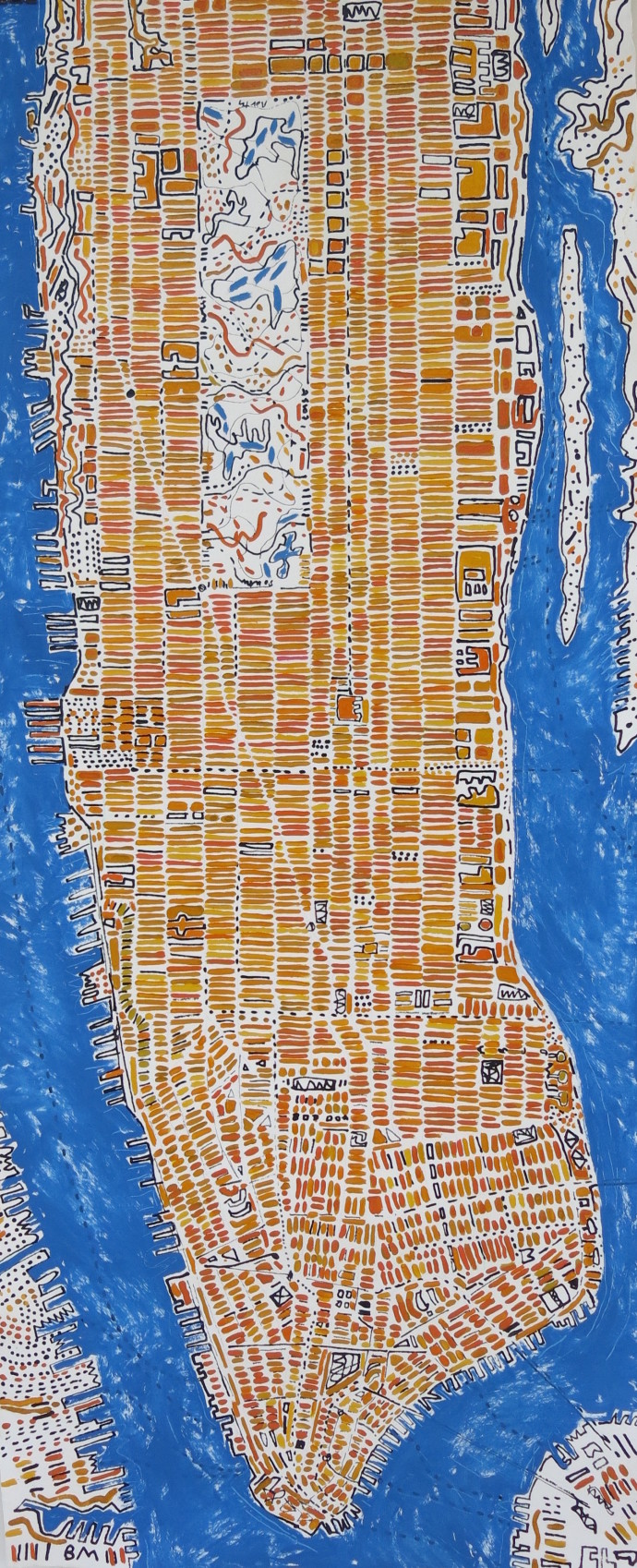 <div class=&#34;artist&#34;><strong>Barbara Macfarlane</strong></div><div class=&#34;title&#34;><em>Long Manhattan Yellow Ochre</em>, 2017</div><div class=&#34;medium&#34;>oil and ink on handmade Khadi paper</div><div class=&#34;dimensions&#34;>200 x 80 cm<br>78 3/4 x 31 1/2 in</div>