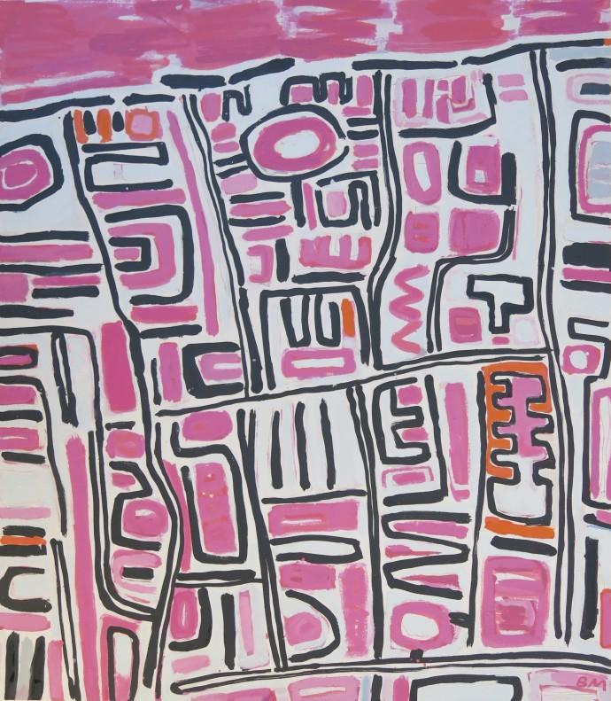 Barbara MacFarlane, London Streets Pink, 2017