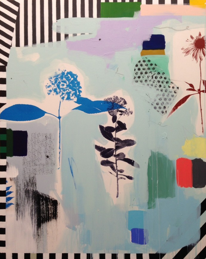 <div class=&#34;artist&#34;><strong>Emily Filler</strong></div><div class=&#34;title&#34;><em>Blue Hydrangea and Stripes</em>, 2016</div><div class=&#34;medium&#34;>mixed media</div><div class=&#34;dimensions&#34;>152.4 x 121.9 cm<br>60 x 48 in</div>