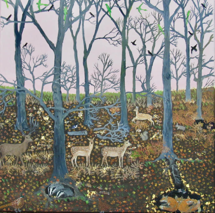 Emma Haworth, Badgers and foxes, 2017