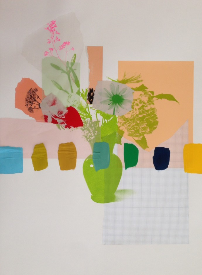 <div class=&#34;artist&#34;><strong>Emily Filler</strong></div> 2017<div class=&#34;title&#34;><em>Paper Bouquet (peach + green)</em>, 2017</div><div class=&#34;medium&#34;>mixed media on paper</div><div class=&#34;dimensions&#34;>55.9 x 76.2 cm<br>22 x 30 in</div>