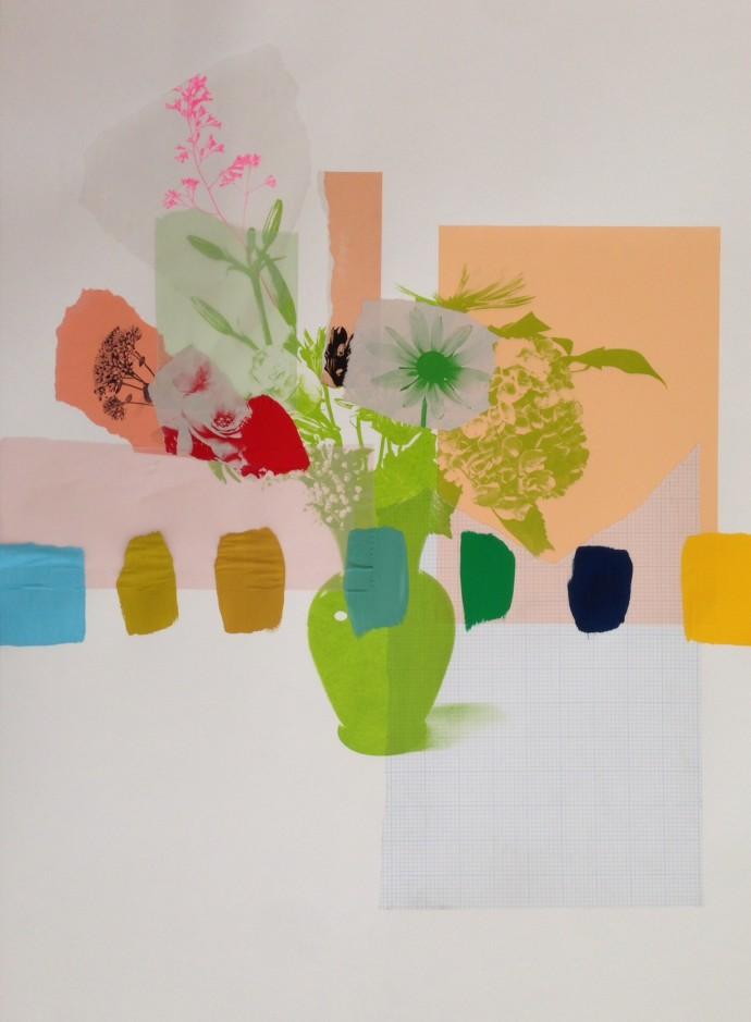 Emily Filler, Paper Bouquet (peach + green), 2017