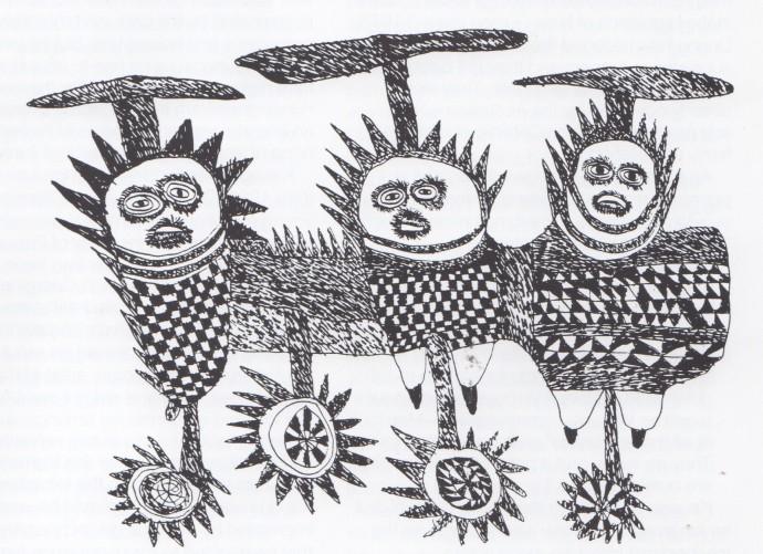 Mathias Kauage, Untitled, '70