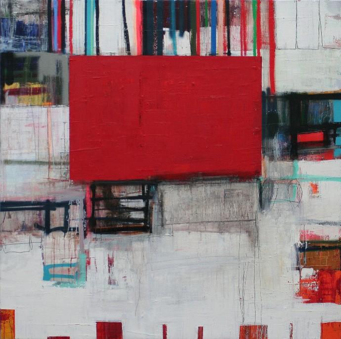 <div class=&#34;artist&#34;><strong>Morten Lassen</strong></div><div class=&#34;title&#34;><em>Trace F</em>, 2015</div><div class=&#34;medium&#34;>oil and spray paint on linen</div><div class=&#34;dimensions&#34;>150 x 150 cm<br>59 1/8 x 59 1/8 in</div>