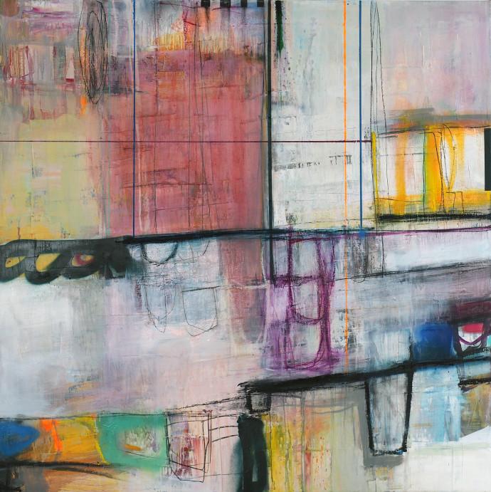 <div class=&#34;artist&#34;><strong>Morten Lassen</strong></div><div class=&#34;title&#34;><em>Integrated K</em>, 2017</div><div class=&#34;medium&#34;>oil and spray paint on linen </div><div class=&#34;dimensions&#34;>120 x 120 cm <br>47 x 47 cm </div>