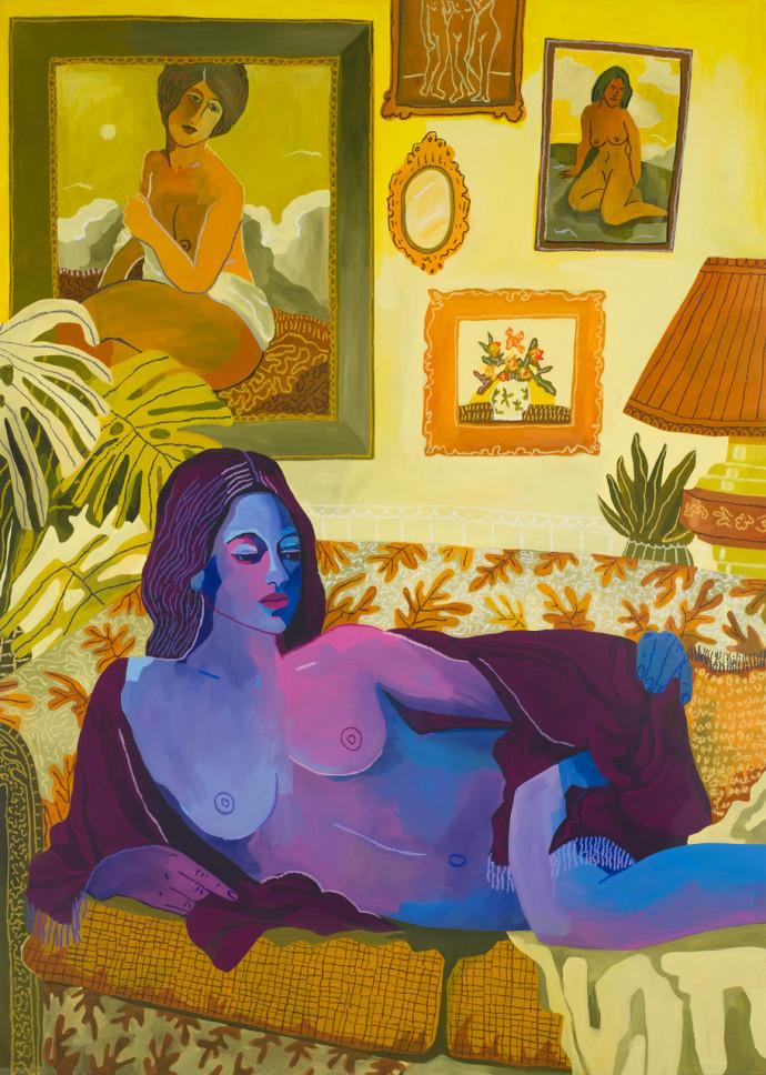 John Holcomb, Yellow Madonna, 2019