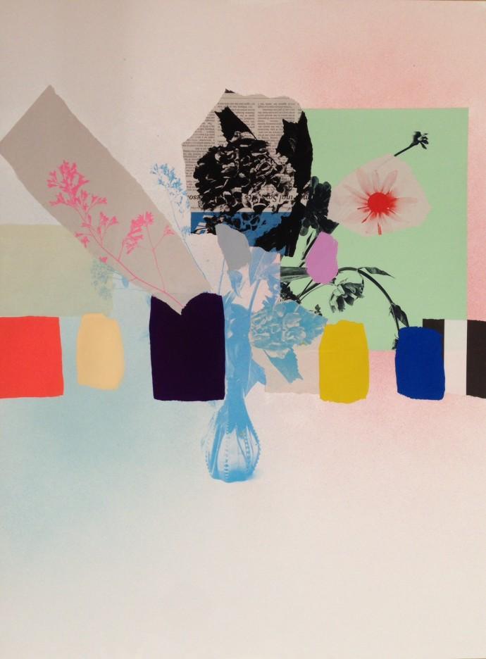 Emily Filler, Paper Bouquet (newspaper hydrangea) , 2017