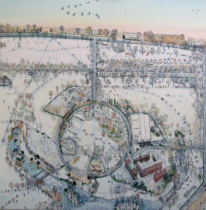 <span class=&#34;title_and_year&#34;><em>Mapping Regents Park I</em>, 2016<span class=&#34;title_and_year_comma&#34;>, </span></span><span class=&#34;medium&#34;>oil on linen<span class=&#34;medium_comma&#34;>, </span></span><span class=&#34;dimensions&#34;>150 x 150 cm<br/>59 1/8 x 59 1/8 in</span>
