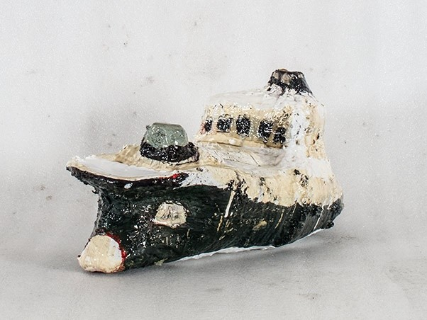 <div class=&#34;artist&#34;><strong>Rob Tucker</strong></div><div class=&#34;title&#34;><em>Study of a ship like form No. 1 (navy)</em>, 2015</div><div class=&#34;medium&#34;>plaster, polyurethane, and paint over chicken wire</div>