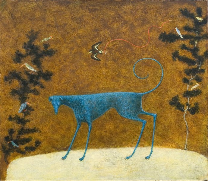 Alasdair Wallace, Blue Dog, 2011