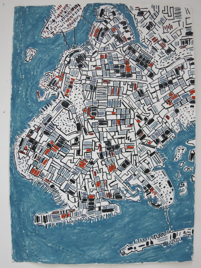 <span class=&#34;title_and_year&#34;><em>Zinc Brooklyn</em>, 2014<span class=&#34;title_and_year_comma&#34;>, </span></span><span class=&#34;medium&#34;>ink and oil on handmade paper<span class=&#34;medium_comma&#34;>, </span></span><span class=&#34;dimensions&#34;>138 x 98 cm<br/>54 3/8 x 38 5/8 in</span>