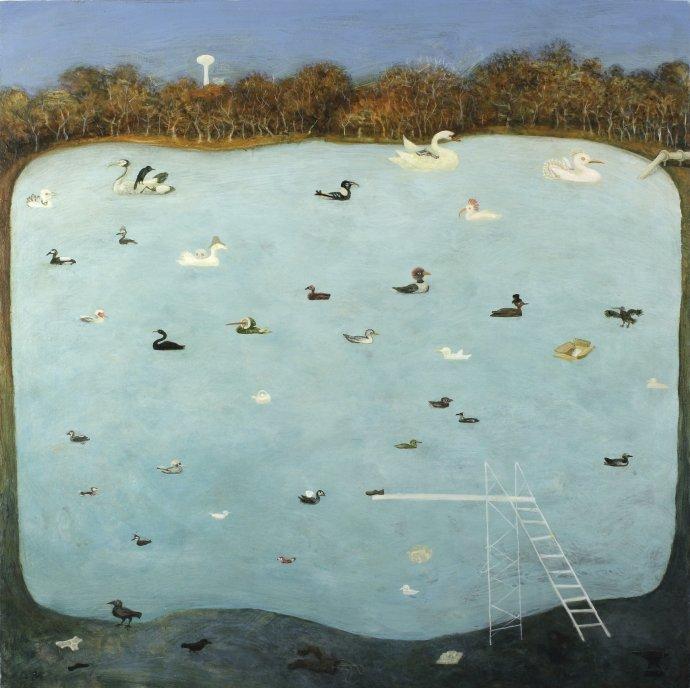 Alasdair Wallace, Winter Pond, 2008