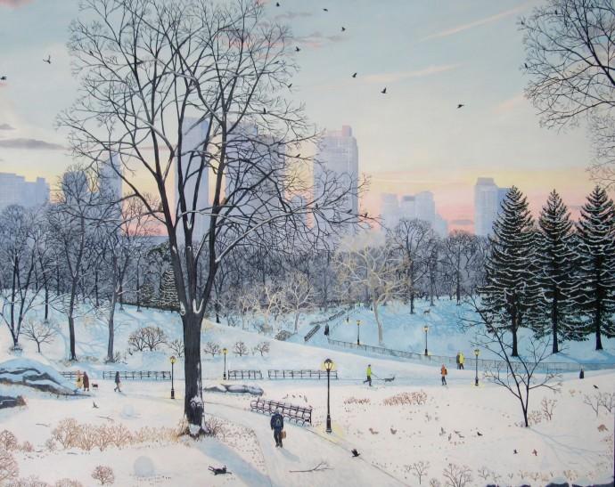 Emma Haworth, Winter Landscape - Central Park, 2016