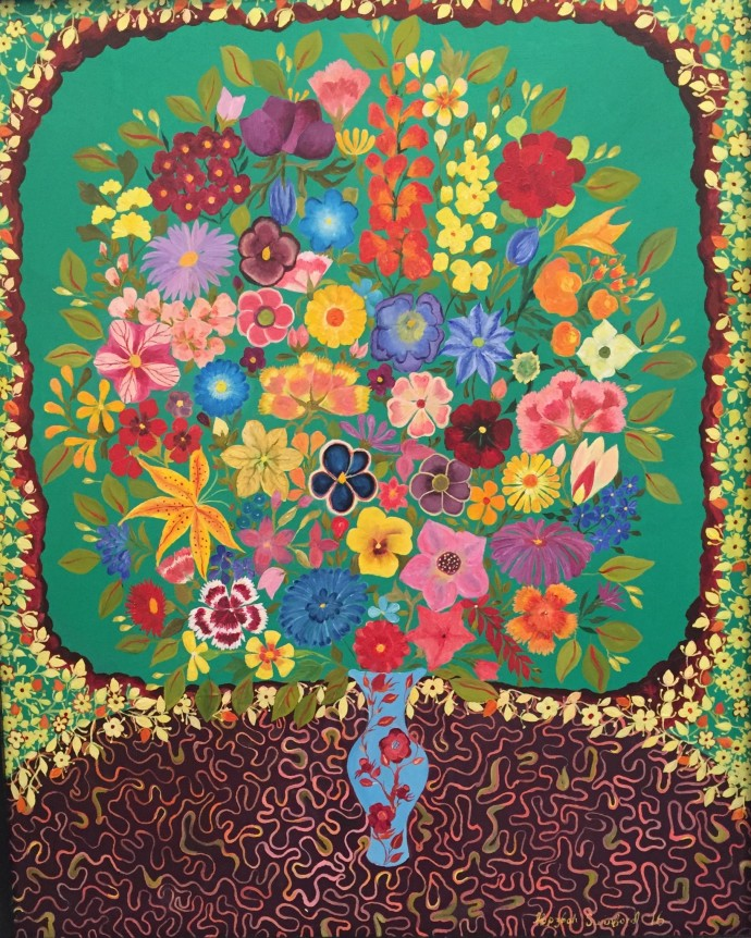 Hepzibah Swinford, Flowers on Green, 2016