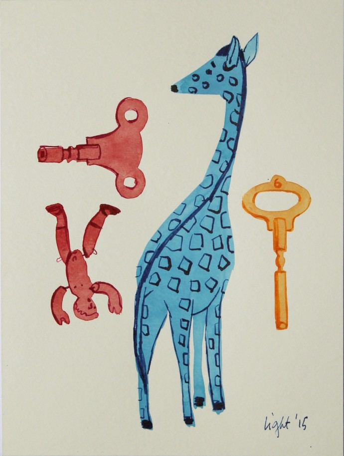 Susan Light, Blue Giraffe, 2015
